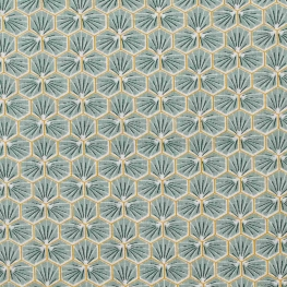 Tissu coton cretonne good day - Amande
