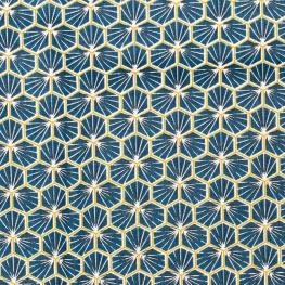 Tissu coton cretonne good day - Bleu pétrole