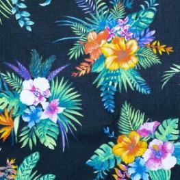 Tissu coton cretonne Hawaï