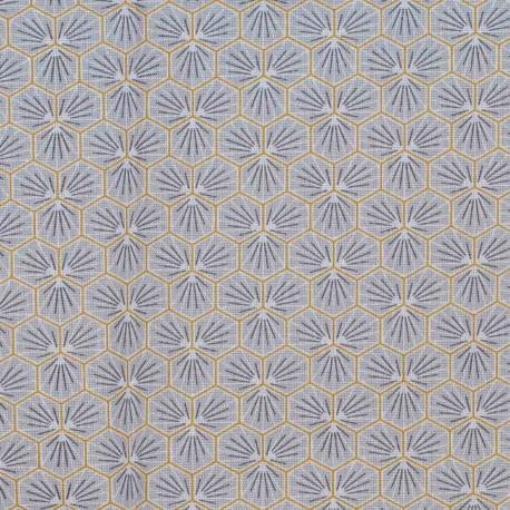 Tissu coton enduit good day - Gris clair