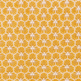 Tissu coton cretonne good day - Jaune