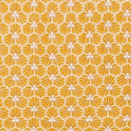 Tissu coton enduit good day - Jaune
