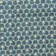 Tissu coton enduit good day - Bleu pétrole