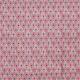 Tissu coton enduit plume de paon - Rose & gris