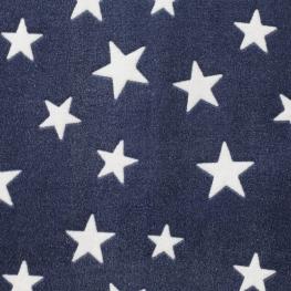 Tissu polaire étoile - Bleu & blanc