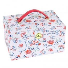 Boite à couture en tissu motif fleuri, taille M