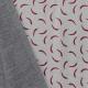 Tissu polaire gris parsemé de coccinelles