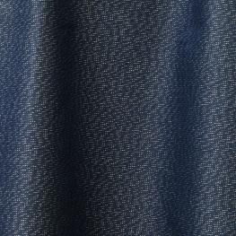 Tissu enduit brillant argent - Bleu pétrole