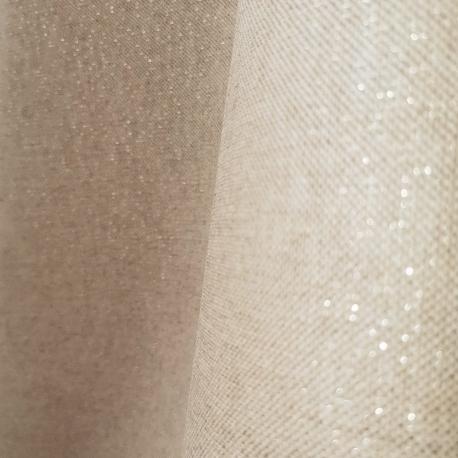 Tissu enduit brillant doré - Beige