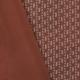 Tissu jersey rayures funky - Orange brique & Blanc
