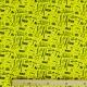 Tissu jersey neon Rock and Roll- Jaune fluo