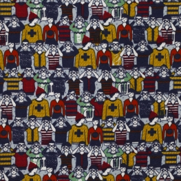 Tissu jersey petits personnages - Multicolore