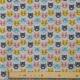 Tissu Jersey Tetes de Chats - Gris chiné & Multicolore