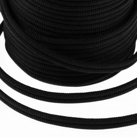 Galon passementerie double cordon, 5 mètres - Noir