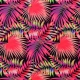 Tissu pour Maillot de Bain Jungle - Rouge