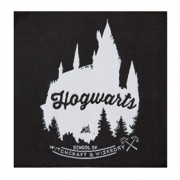 Ecusson Harry Potter brodé - Poudlard Noir & Blanc