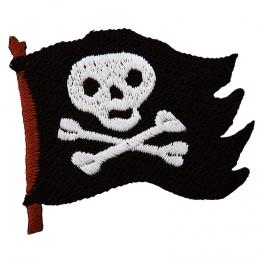 Ecusson Drapeau Pirate brodé - Noir & Blanc