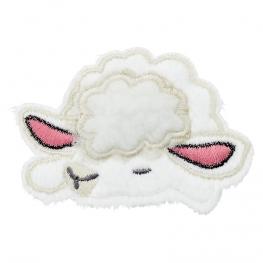 Ecusson Mouton Endormi Doux - Blanc