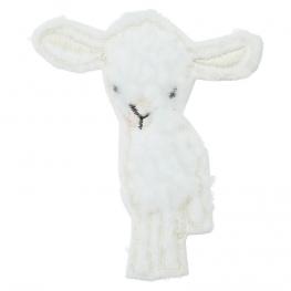 Ecusson Mouton Laineux Doux - Blanc