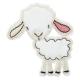 Ecusson Mouton Doux - Blanc