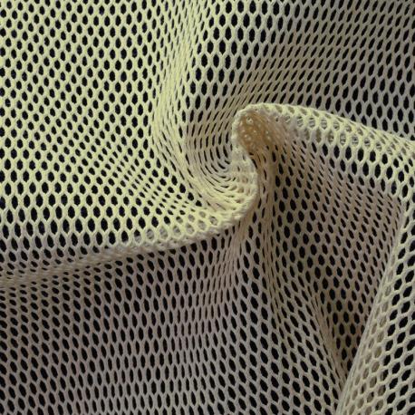 Tissu Filet 100% Coton Bio GOTS - Écru
