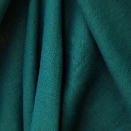 Tissu 100% Lin lavé Uni - Vert vérone