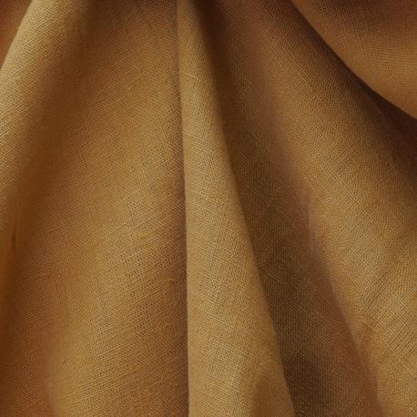 Tissu 100% Lin Lavé Uni - Noir
