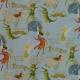 Tissu Popeline Coton Peter Pan - Bleu ciel