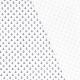 Tissu coton ancre marine - Blanc
