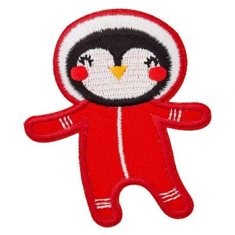 Ecusson Pingouin Astronaute
