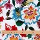Tissu coton fleuri - Blanc & Multicolore