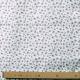 Tissu Popeline Petite fleur 100% Coton Bio GOTS - Blanc & Vert