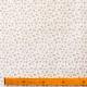Tissu Popeline Petite fleur 100% Coton Bio GOTS - Blanc & Corail
