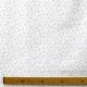 Tissu Popeline Petite fleur 100% Coton Bio GOTS - Blanc & Taupe