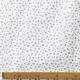 Tissu Popeline Petite fleur 100% Coton Bio GOTS - Blanc & Gris