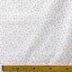 Tissu Popeline Petite fleur 100% Coton Bio GOTS - Blanc & Vieux rose