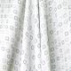Tissu Popeline Petit Losange 100% Coton Bio GOTS - Blanc & Taupe