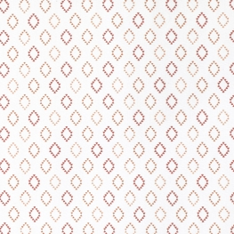 Tissu Popeline Petit Losange 100% Coton Bio GOTS - Blanc & Orange