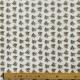 Tissu Popeline Bouquet Fleuri 100% Coton Bio GOTS - Blanc