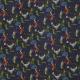 Tissu Popeline Coton Peter Pan - Bleu marine