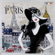 Carré Jacquard I Love Paris - Taupe