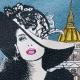 Carré Jacquard I Love Paris - Bleu