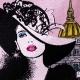 Carré Jacquard I Love Paris - Rose