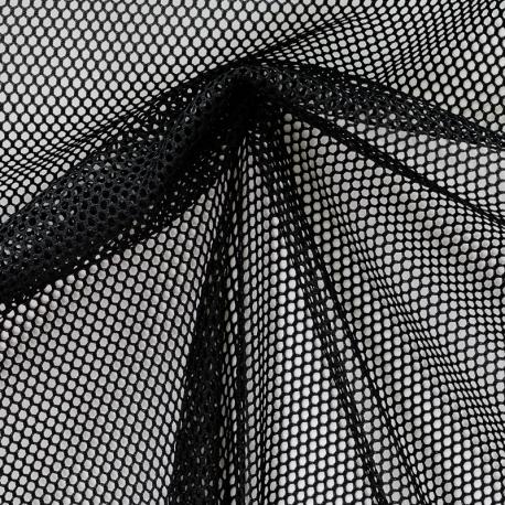 Tissu Filet - Noir