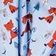 Tissu Coton Cretonne Renard & Lapin - Bleu