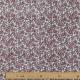 Tissu Popeline Fleurs des Champs - Gris & Rose