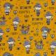 Tissu Popeline Coton Pirates - Moutarde