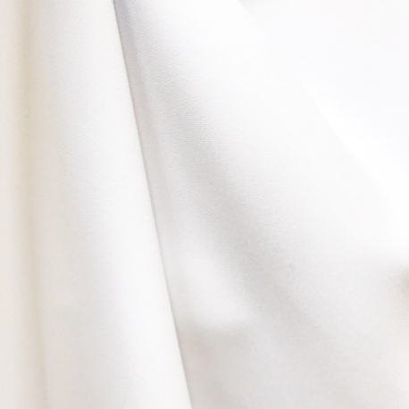 Tissu Burlington Sergé Uni - Blanc