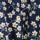 Tissu Coton Cretonne Amandier - Bleu Marine