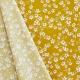 Tissu Coton Cretonne Amandier - Jaune curry